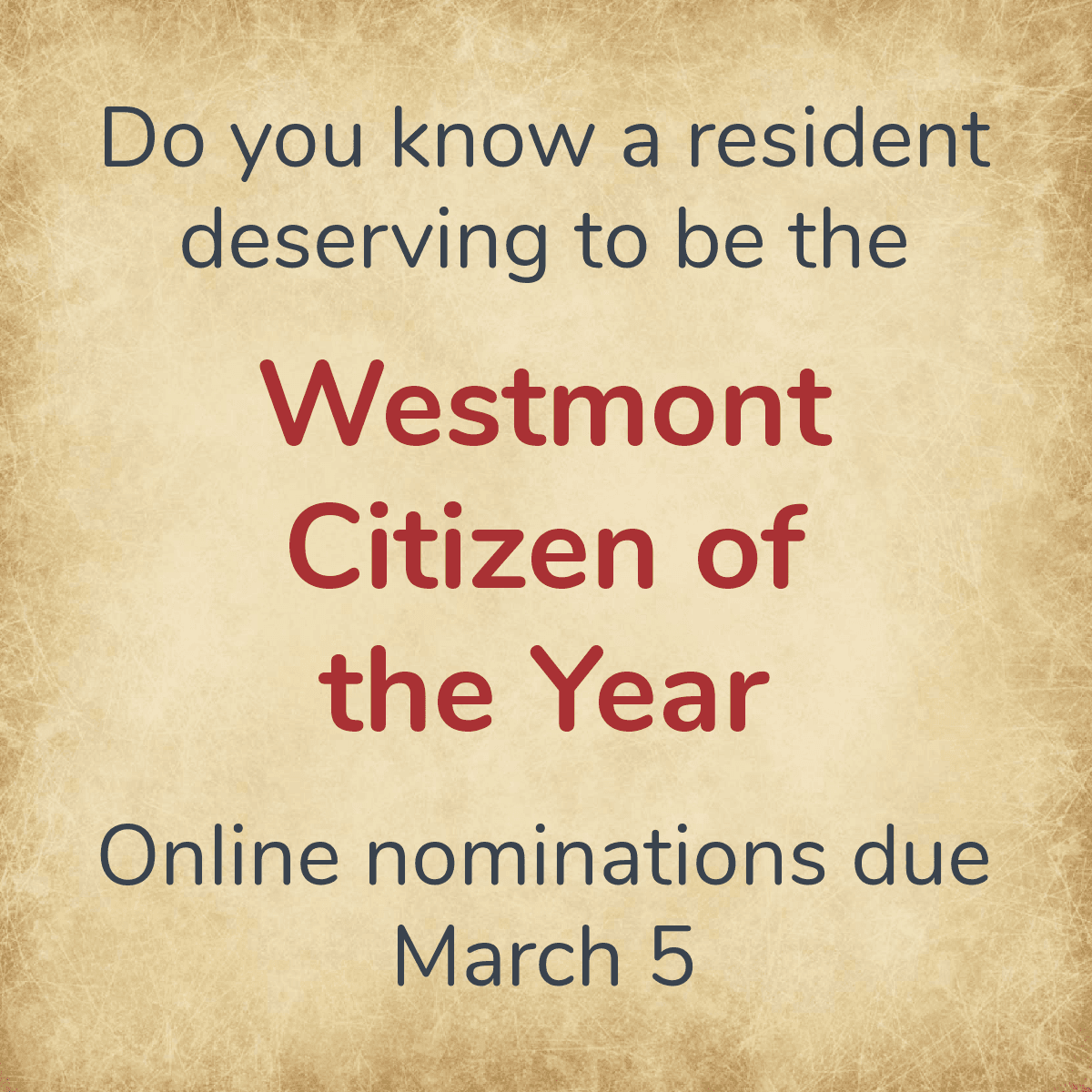 Citizen of the Year Nominations