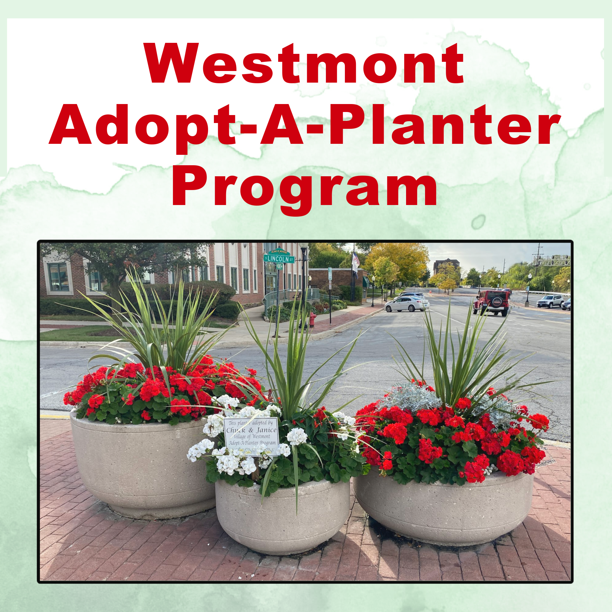 Adopt-A-Planter Graphic