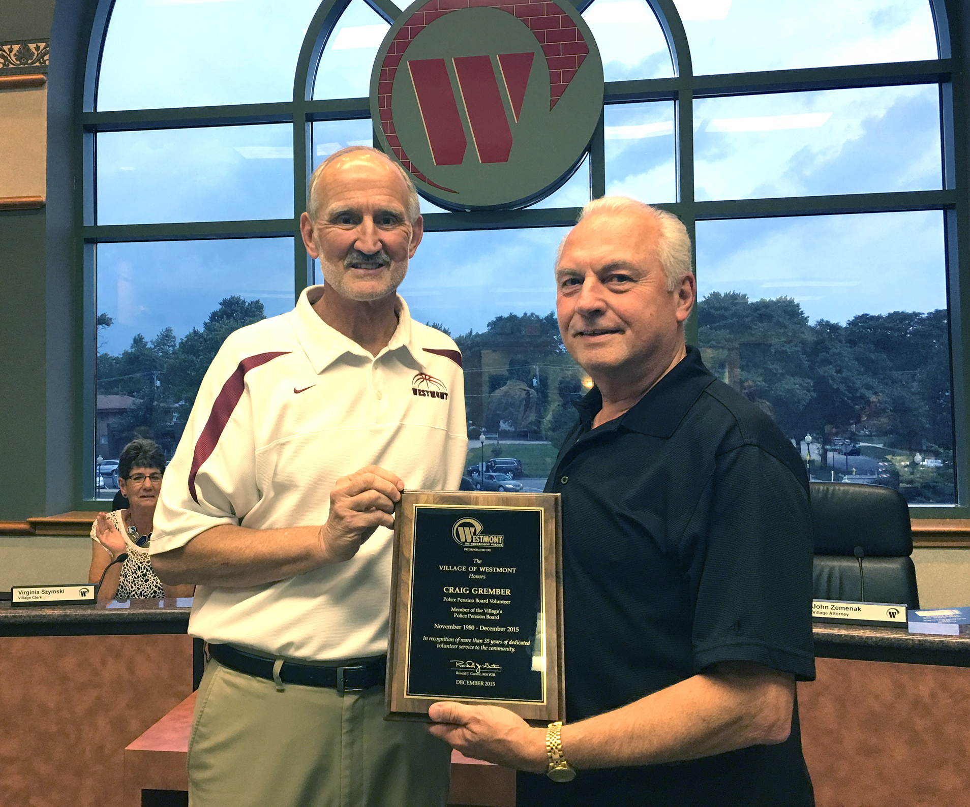 Grember Honored For Service