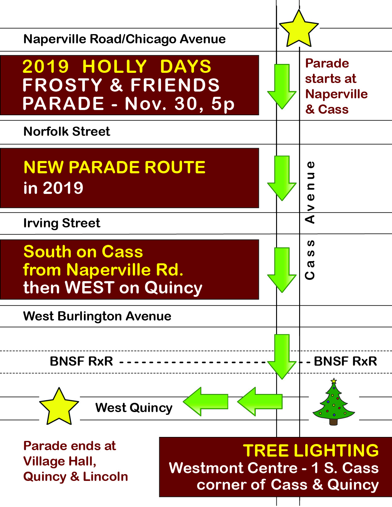 2019 Holly Days Parade Route
