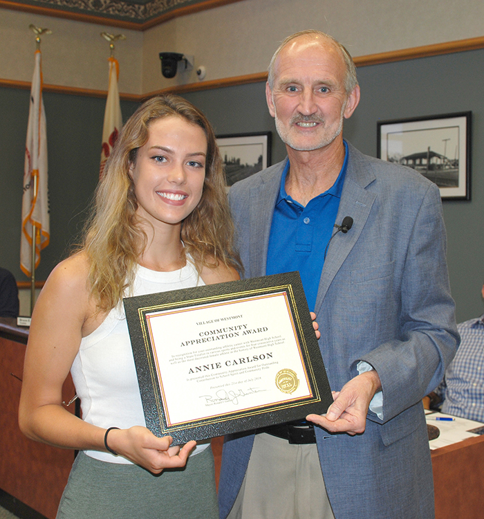 WHS Athlete Honored