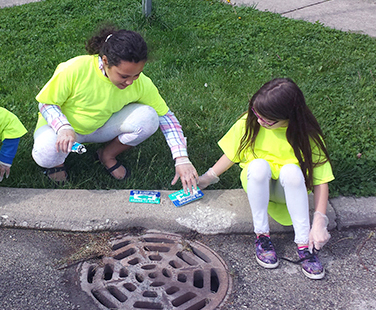 Storm drain education project